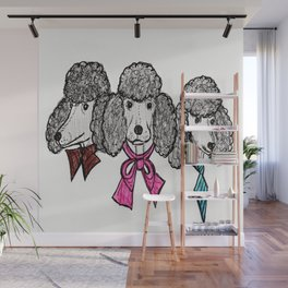 Le Poodles Wall Mural