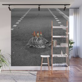 gnomes on a turtle Wall Mural