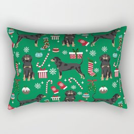 Coonhound dog breed christmas gifts dog lovers pet friendly holiday Rectangular Pillow