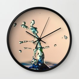 Water drops colliding Wall Clock