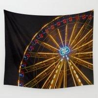 ferris wheel Wall Tapestries featuring Ferris Wheel by Michelle Loidl