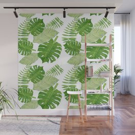 Tropical Leaf Mix Wall Mural