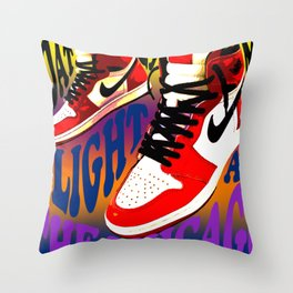 Psychedelic Sneakers Throw Pillow