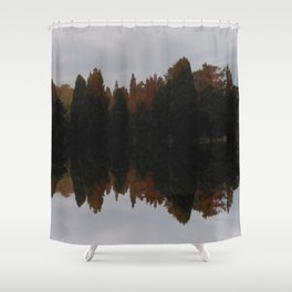 Morning cypress trees in the Gardens Malta Shower Curtain