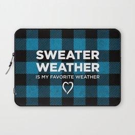 Sweater Weather Is My Favorite Weather Custom Plaid Laptop Sleeve