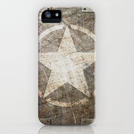 Army Star on Distressed Riveted Metal Door iPhone Case