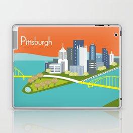 Pittsburgh, Pennsylvania - Skyline Illustration by Loose Petals Laptop & iPad Skin