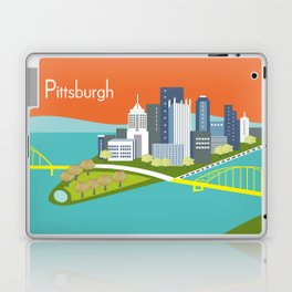 Pittsburgh, Pennsylvania - Skyline Illustration by Loose Petals Laptop & iPad Skin