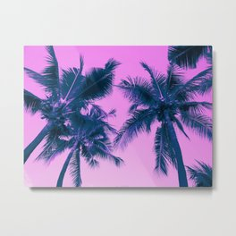 Palm Trees Pink Metal Print