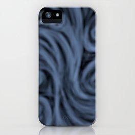dark blue swirl iPhone Case
