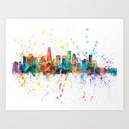 Los Angeles California Skyline Art Print