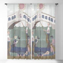 Venice Italy 5 Sheer Curtain
