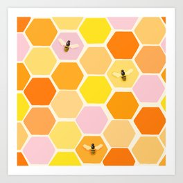 Busy As A Bee In A Hive Art Print
