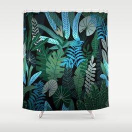 Eve's Paradise Tropical Garden Shower Curtain