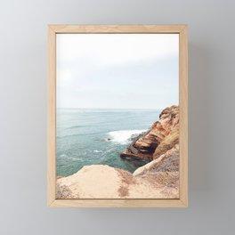 Cliffside Stairs Framed Mini Art Print