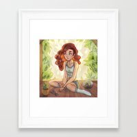 cyarin Framed Art Prints featuring Greenhouse by Cyarin