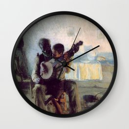 The Banjo Lesson by Henry Ossawa Tanner Wall Clock
