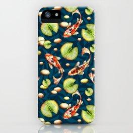 Koi. Night pattern iPhone Case