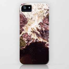 Secret Waterfall in nature - aerial photography iPhone Case