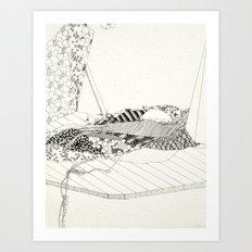 A dusty fertility is still open for locusts Art Print