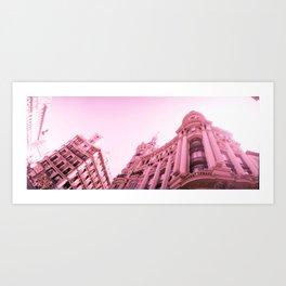 Pink Madrid Art Print