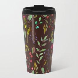 chalkboard watercolor wildflowers Travel Mug
