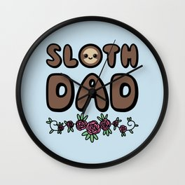 Sloth Dad Wall Clock
