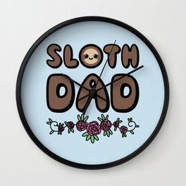 Sloth Dad Wall Clock