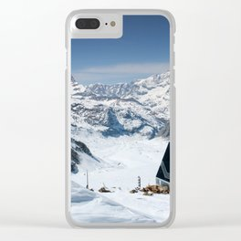 Monte Rosa and Matterhorn in Switzerland Clear iPhone Case