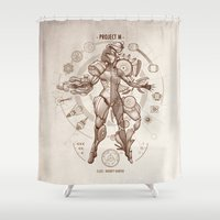 da vinci Shower Curtains featuring Project M - Da Vinci Edition by Emilie Boisvert