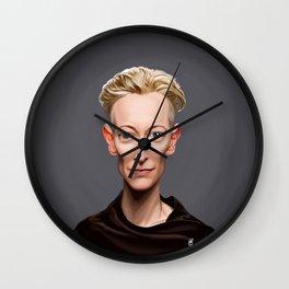 Celebrity Sunday ~ Tilda Swinton Wall Clock