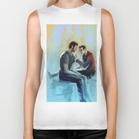sterek Biker Tanks featuring sterek by AkiMao