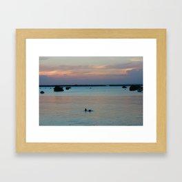 Childrens' evening swim  Framed Art Print