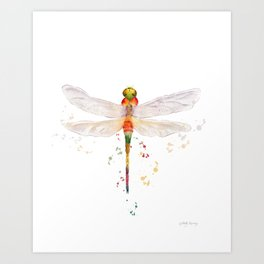 Colorful Dragonfly  Art Print