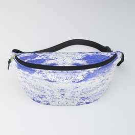 Deep Ocean Blue with White Caps Fanny Pack