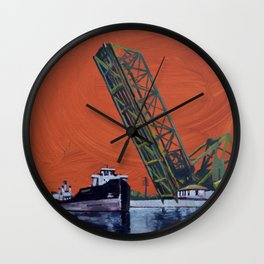 Gauron Jackknife Bridge Wall Clock