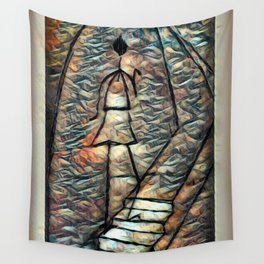 Flaming Darkness Wall Tapestry