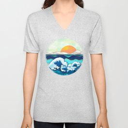 Stormy Waters Unisex V-Neck