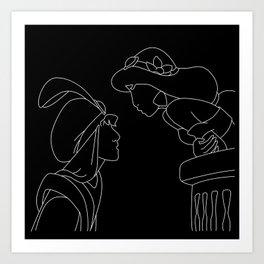 Aladdin & Jasmine Art Print