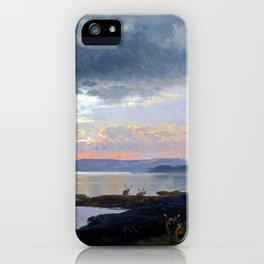 Hermann Herzog Twilight over a Lake iPhone Case