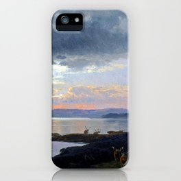 Hermann Herzog Twilight over a Lake iPhone Case