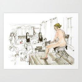 Figure Drawing, 80 Art Print