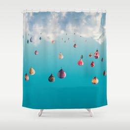 Globedrops Shower Curtain
