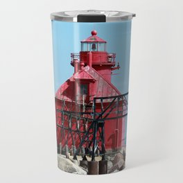 Sturgeon Bay Ship Canal North Pierhead Light House Travel Mug