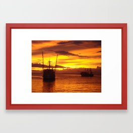 Costa Rican Sunset Framed Art Print