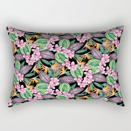 Tropical orchids & leaves Rectangular Pillow