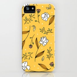 Gold Floral iPhone Case