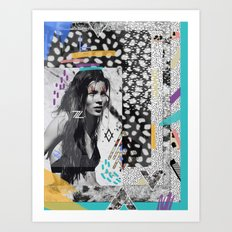 KATE MOSS TRIBE Art Print