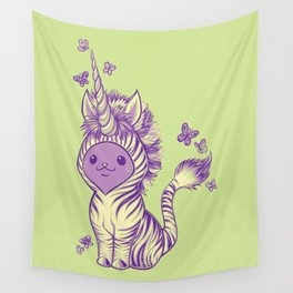 Lilac Cat Wears Tibracorn Onesie Wall Tapestry