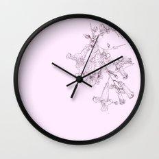 Pink Trumpet Vine_pink version Wall Clock